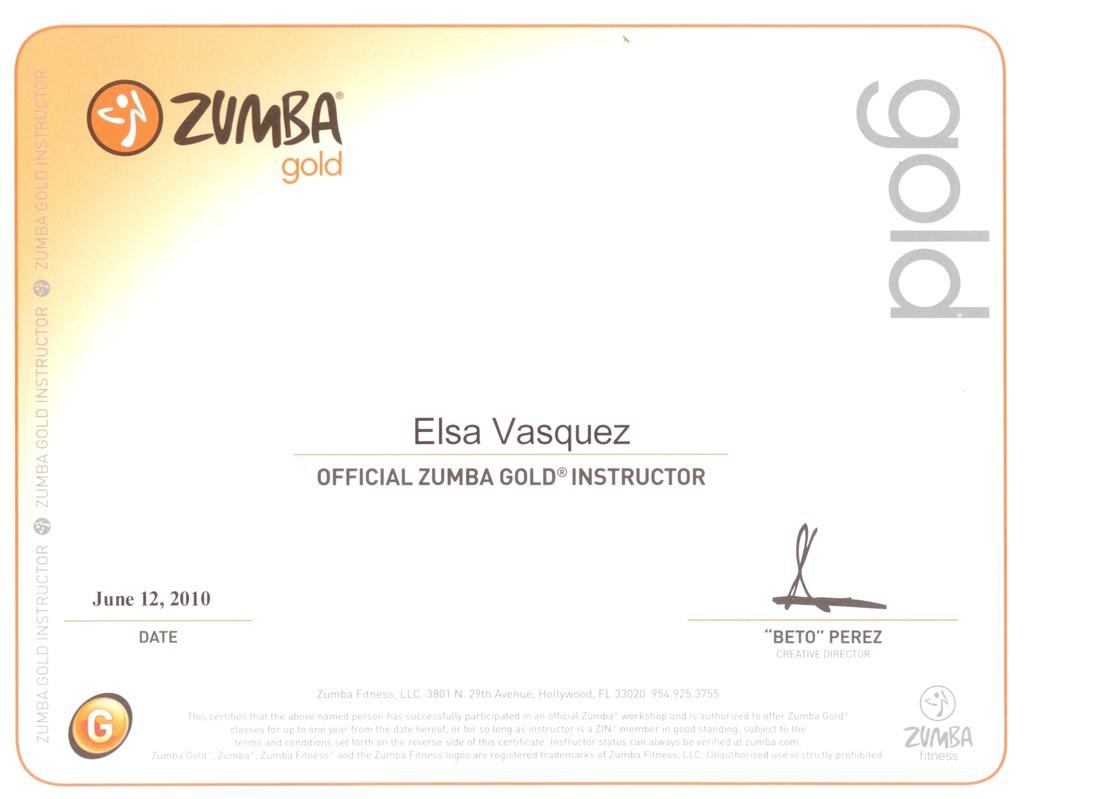 Certifications Elsa Fitness